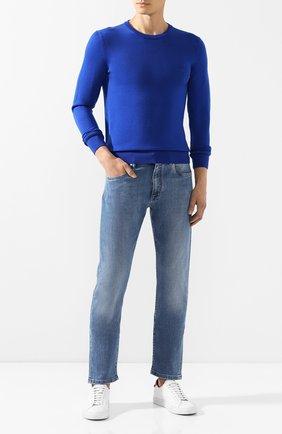 Мужской шерстяной джемпер BILLIONAIRE синего цвета, арт. MKO0612 | Фото 2