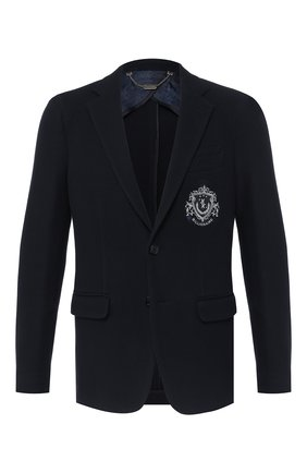 Мужской пиджак из вискозы BILLIONAIRE темно-синего цвета, арт. MRF0850 | Фото 1