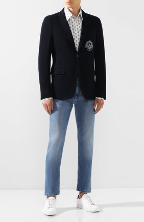 Мужской пиджак из вискозы BILLIONAIRE темно-синего цвета, арт. MRF0850 | Фото 2