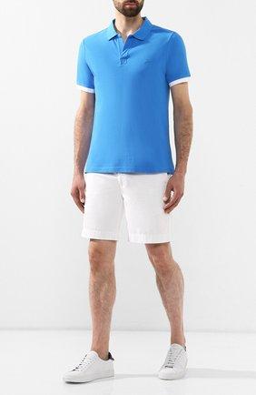 Мужское хлопковое поло VILEBREQUIN синего цвета, арт. PLTH9N00 | Фото 2