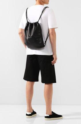 Мужской кожаный рюкзак teddy SAINT LAURENT черного цвета, арт. 553919/0YP0E | Фото 2