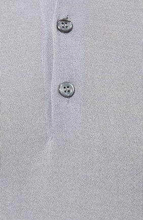 Мужское поло из смеси шерсти и шелка BRIONI серого цвета, арт. UMR30L/08K16 | Фото 5