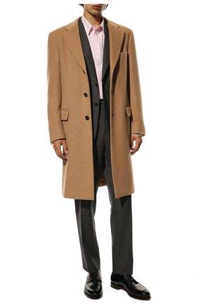 Мужские кожаные дерби SANTONI черного цвета, арт. MCC016821MC3HVVDN01 | Фото 2