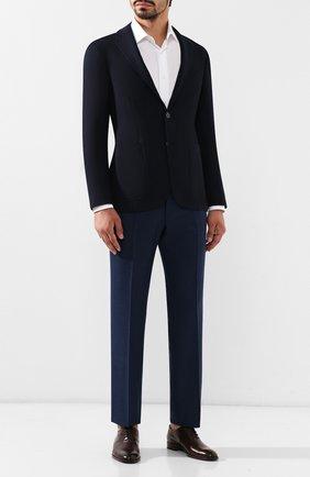 Мужской шерстяные брюки CANALI синего цвета, арт. 71012/AN00019   Фото 2