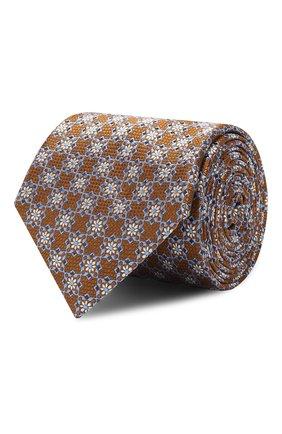 Мужской шелковый галстук CANALI желтого цвета, арт. 18/HJ02315 | Фото 1