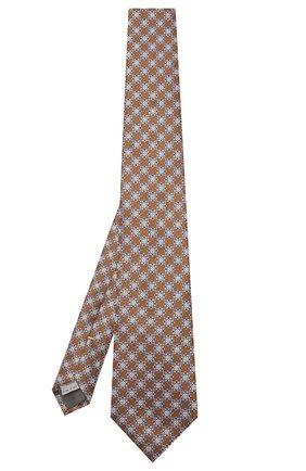 Мужской шелковый галстук CANALI желтого цвета, арт. 18/HJ02315 | Фото 2