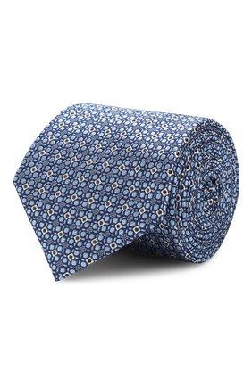 Мужской шелковый галстук CANALI темно-синего цвета, арт. 18/HJ02303   Фото 1