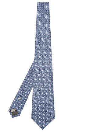 Мужской шелковый галстук CANALI темно-синего цвета, арт. 18/HJ02303   Фото 2