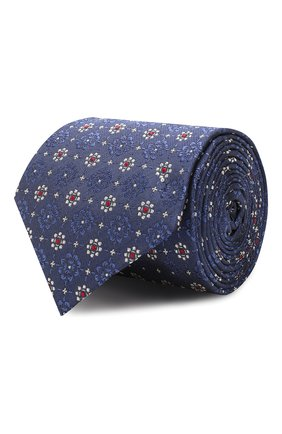 Мужской шелковый галстук CANALI синего цвета, арт. 18/HJ02262   Фото 1