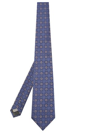Мужской шелковый галстук CANALI синего цвета, арт. 18/HJ02262   Фото 2