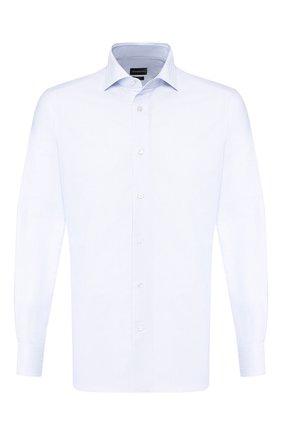Мужская хлопковая сорочка ERMENEGILDO ZEGNA светло-голубого цвета, арт. 601033/9MS0BA | Фото 1