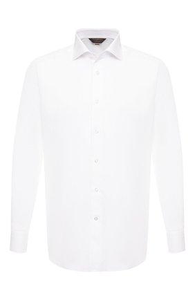 Мужская хлопковая сорочка ZEGNA COUTURE белого цвета, арт. 602010/9NS0LB | Фото 1