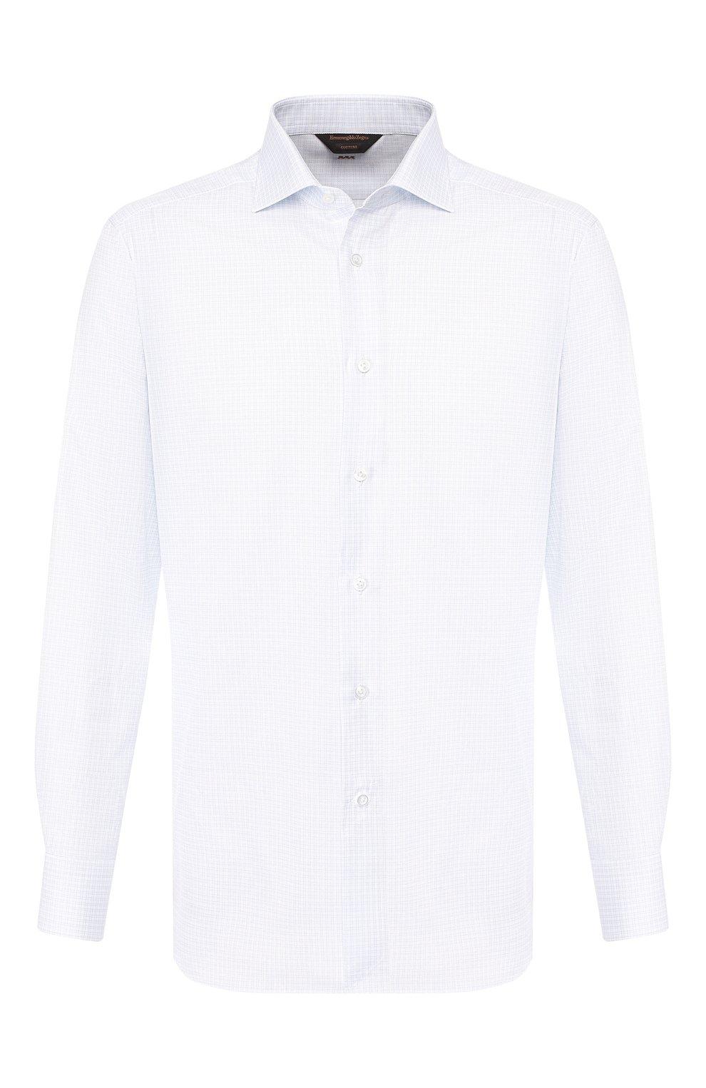 Мужская хлопковая сорочка ZEGNA COUTURE белого цвета, арт. 602072/9NS0LB | Фото 1