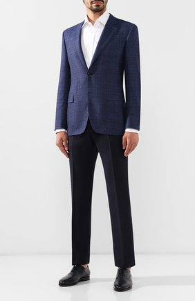 Мужской шерстяные брюки Z ZEGNA темно-синего цвета, арт. 6ZF089/7FSAC2   Фото 2