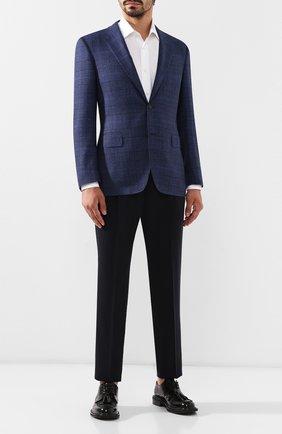 Мужской шерстяные брюки Z ZEGNA темно-синего цвета, арт. 6ZF009/73GDC1   Фото 2