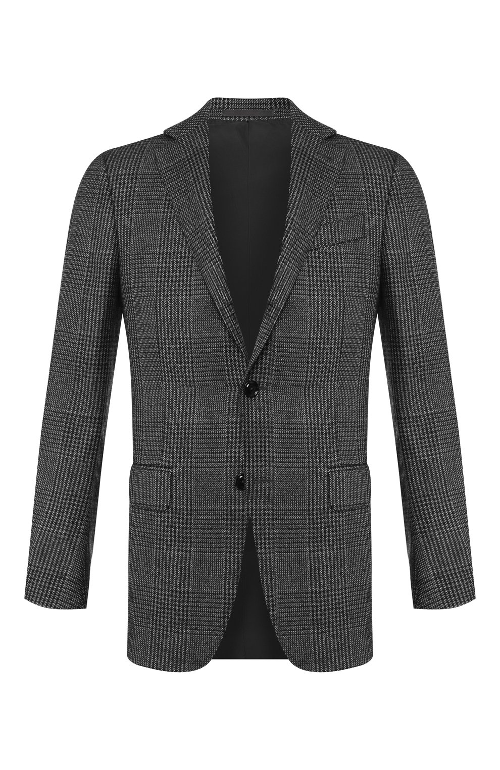 Мужской кашемировый пиджак ERMENEGILDO ZEGNA темно-серого цвета, арт. 669007/121220   Фото 1