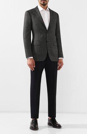 Мужской кашемировый пиджак ERMENEGILDO ZEGNA темно-серого цвета, арт. 669007/121220   Фото 2