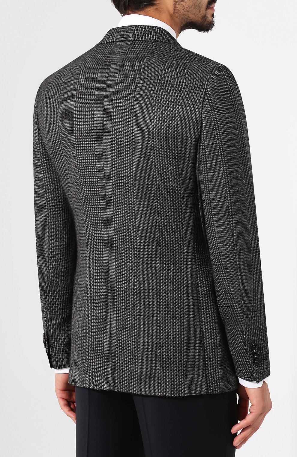 Мужской кашемировый пиджак ERMENEGILDO ZEGNA темно-серого цвета, арт. 669007/121220   Фото 4