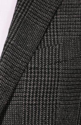 Мужской кашемировый пиджак ERMENEGILDO ZEGNA темно-серого цвета, арт. 669007/121220   Фото 5
