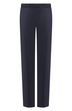 Мужской шерстяные брюки ERMENEGILDO ZEGNA синего цвета, арт. 612F04/75F812 | Фото 1