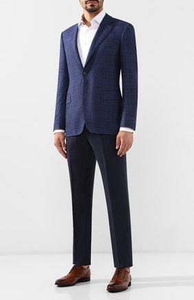 Мужской шерстяные брюки ERMENEGILDO ZEGNA синего цвета, арт. 612F04/75F812 | Фото 2