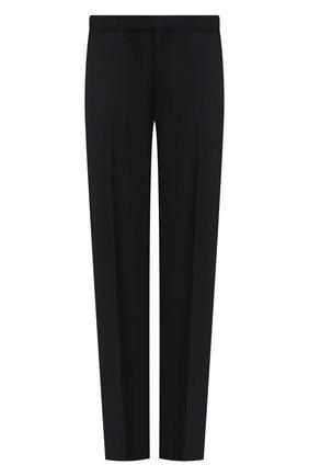 Мужской шерстяные брюки ERMENEGILDO ZEGNA темно-синего цвета, арт. 612F00/75F812 | Фото 1
