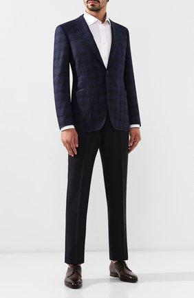 Мужской шерстяные брюки ERMENEGILDO ZEGNA темно-синего цвета, арт. 612F00/75F812 | Фото 2