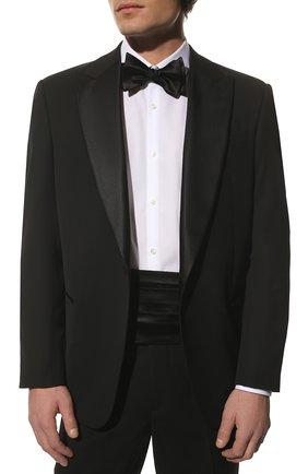 Мужской камербанд из хлопка и шелка BRUNELLO CUCINELLI черного цвета, арт. MR813S005 | Фото 2