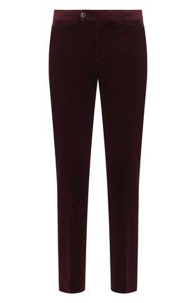 Мужской хлопковые брюки BRUNELLO CUCINELLI бордового цвета, арт. ME233B1150 | Фото 1