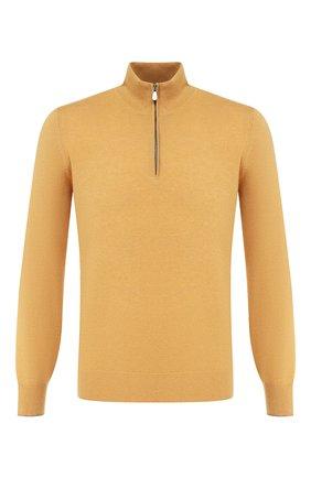 Мужской кашемировый джемпер BRUNELLO CUCINELLI желтого цвета, арт. M2200124 | Фото 1