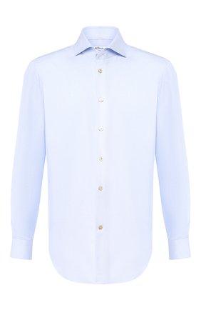 Мужская хлопковая сорочка KITON голубого цвета, арт. UCIH0708508 | Фото 1