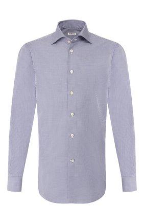 Мужская хлопковая сорочка KITON темно-синего цвета, арт. UCIH0660813 | Фото 1