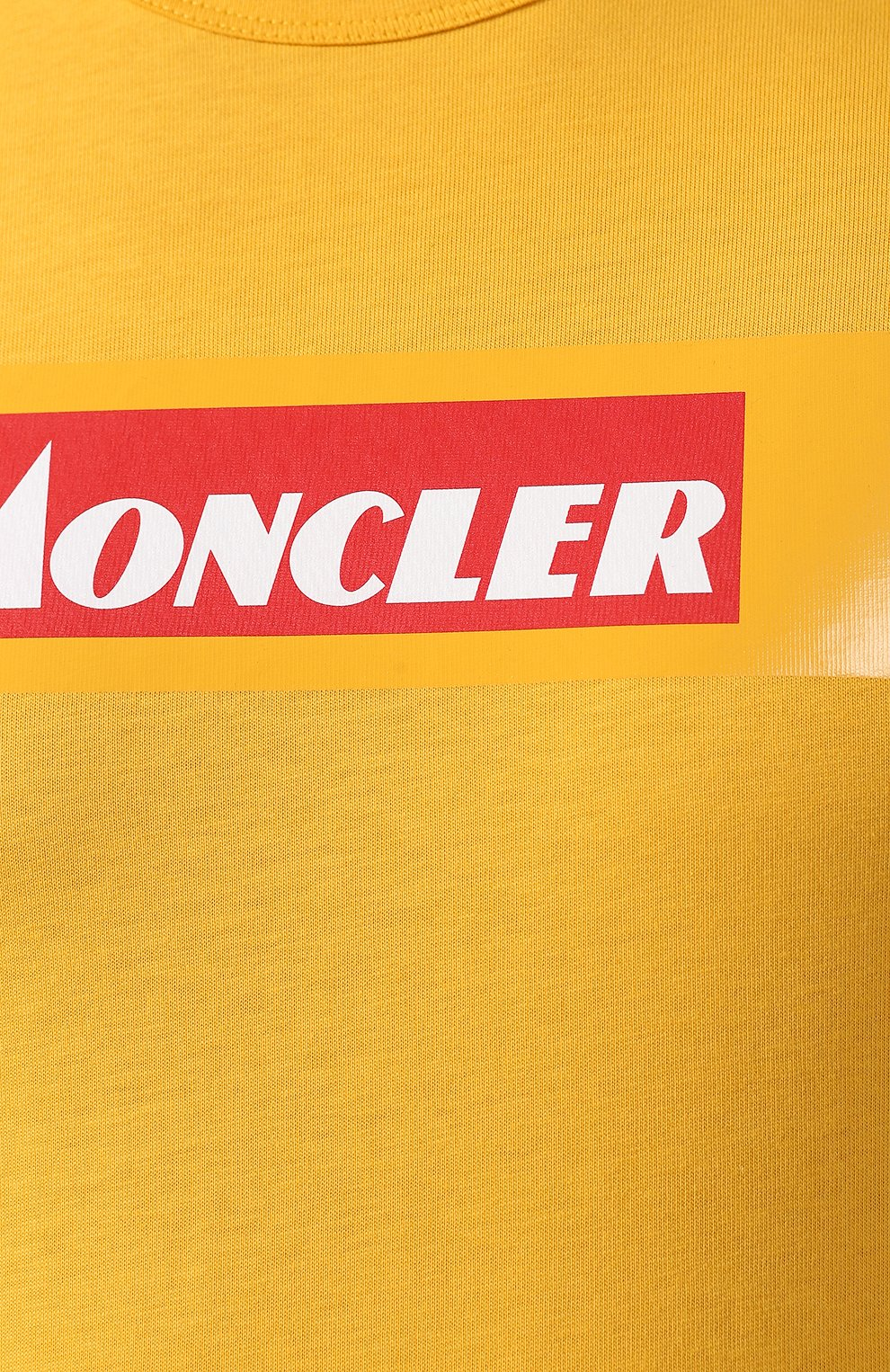 Мужская хлопковая футболка MONCLER желтого цвета, арт. E2-091-80484-50-8390T   Фото 5