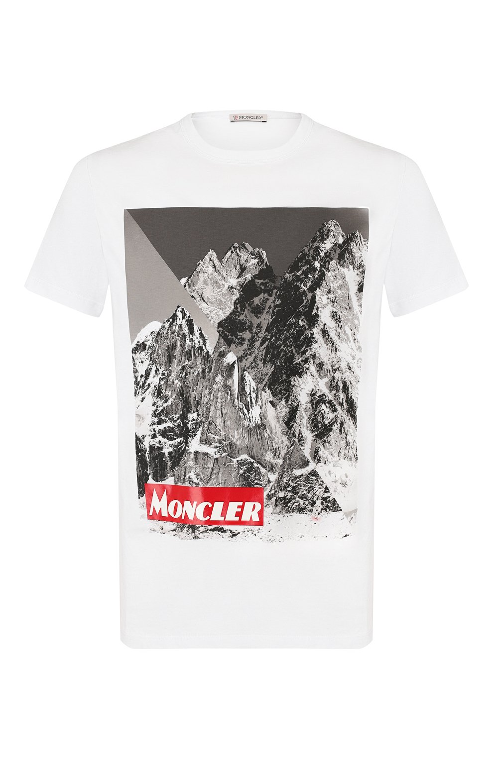 Мужская хлопковая футболка MONCLER белого цвета, арт. E2-091-80483-50-8390T | Фото 1