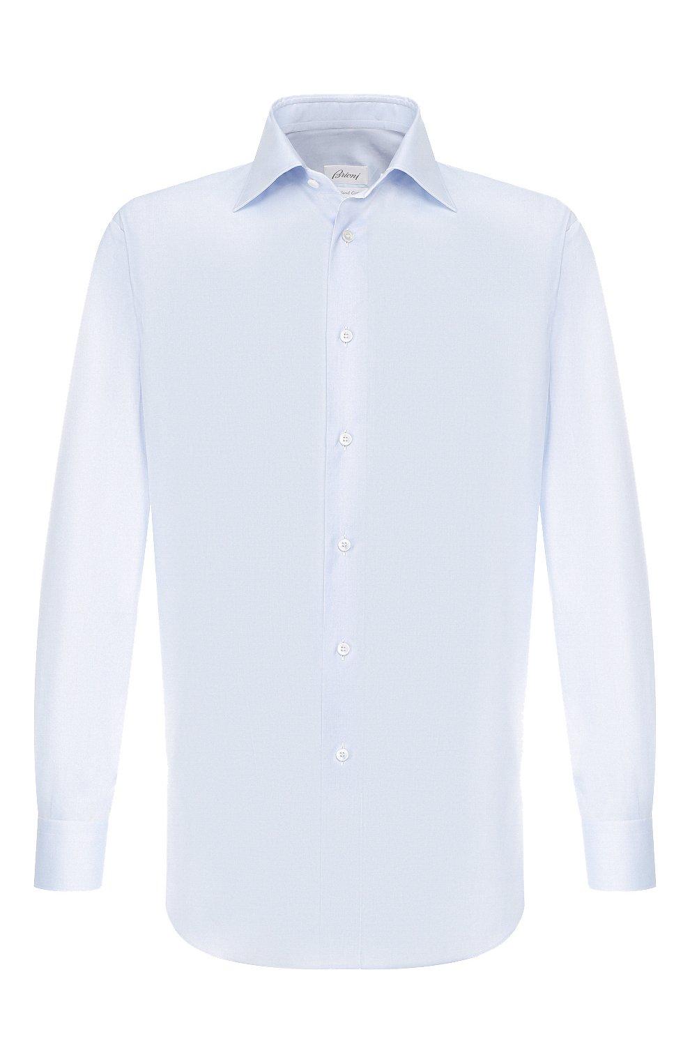 Мужская хлопковая сорочка BRIONI светло-голубого цвета, арт. RCLU1S/0804G | Фото 1