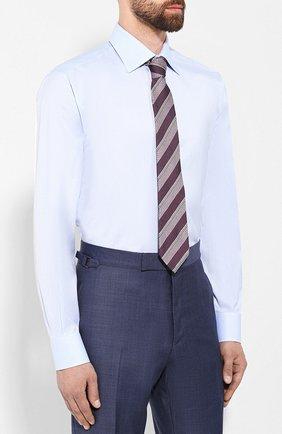 Мужская хлопковая сорочка BRIONI светло-голубого цвета, арт. RCLU1S/0804G | Фото 4