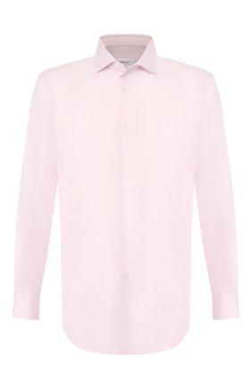 Мужская хлопковая сорочка BRIONI розового цвета, арт. RCL834/P7003 | Фото 1