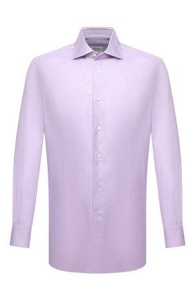 Мужская хлопковая сорочка BRIONI сиреневого цвета, арт. RCL834/P7003 | Фото 1