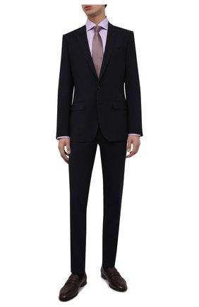 Мужская хлопковая сорочка BRIONI сиреневого цвета, арт. RCL834/P7003 | Фото 2