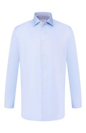 Мужская хлопковая сорочка BRIONI голубого цвета, арт. RCL834/P7003 | Фото 1
