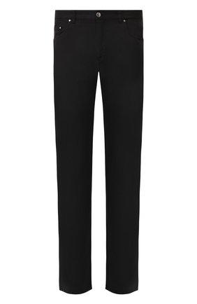 Мужской хлопковые брюки PAUL&SHARK черного цвета, арт. C0P7161/F0D | Фото 1