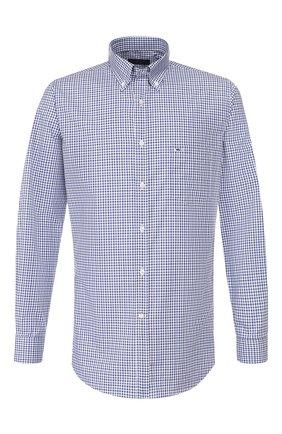 Мужская хлопковая сорочка PAUL&SHARK синего цвета, арт. C0P3007/C00 | Фото 1