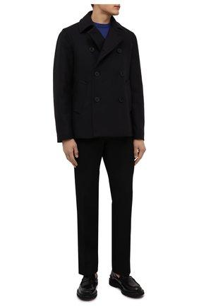 Мужской шерстяное пальто PAUL&SHARK темно-синего цвета, арт. C0P2004 | Фото 2