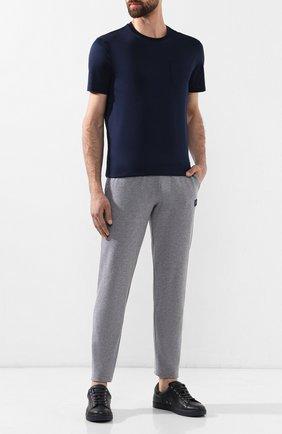 Мужские хлопковые брюки PAUL&SHARK серого цвета, арт. C0P1062 | Фото 2