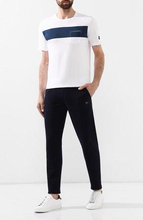 Мужские хлопковые брюки PAUL&SHARK темно-синего цвета, арт. C0P1062 | Фото 2