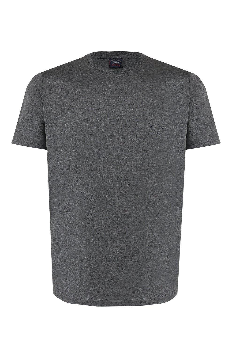 Мужская хлопковая футболка PAUL&SHARK серого цвета, арт. C0P1011/C00 | Фото 1