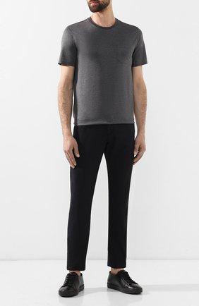 Мужская хлопковая футболка PAUL&SHARK серого цвета, арт. C0P1011/C00 | Фото 2