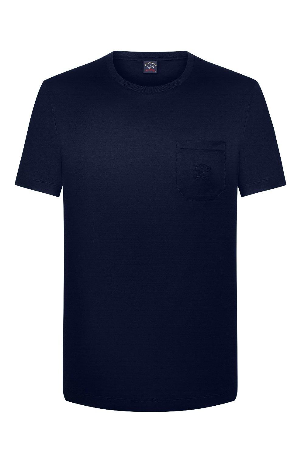 Мужская хлопковая футболка PAUL&SHARK темно-синего цвета, арт. C0P1011/C00 | Фото 1