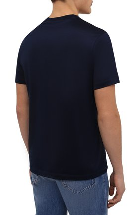Мужская хлопковая футболка PAUL&SHARK темно-синего цвета, арт. C0P1011/C00 | Фото 4