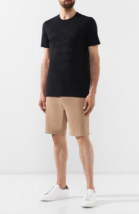 Мужская хлопковая футболка PAUL&SHARK черного цвета, арт. C0P1007/C00 | Фото 2
